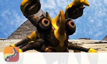 123D Creature Battle Crab 3D model