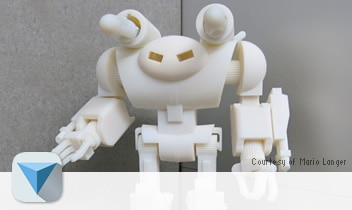 3D printed robot created with 123D Design