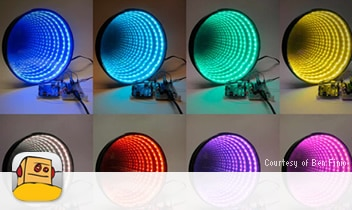 Infinity mirror project on Instructables