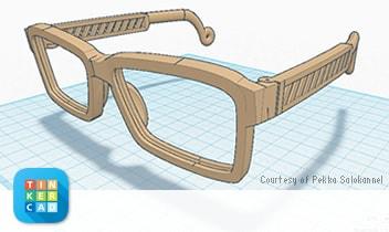 Eyewear designed in Tinkercad