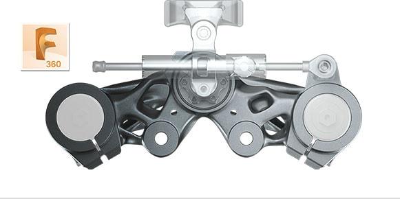 Fusion 360 rendering of machine part
