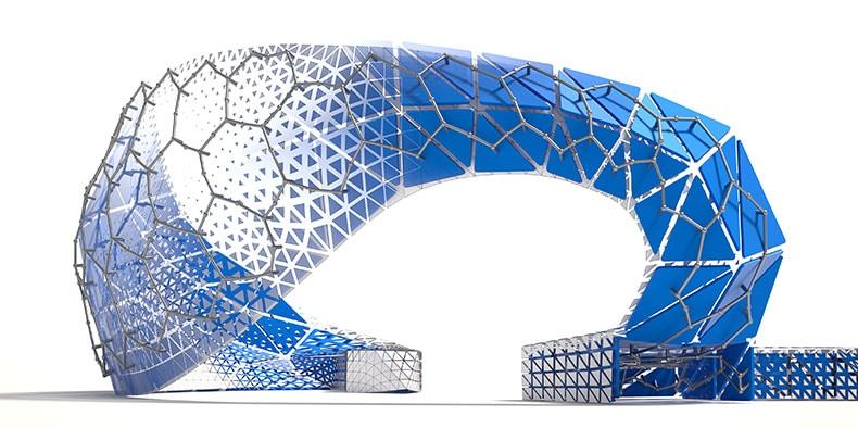 Generative design of Dynamo Pavilion