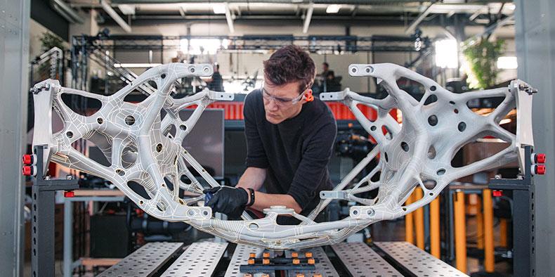 Man working in generative design