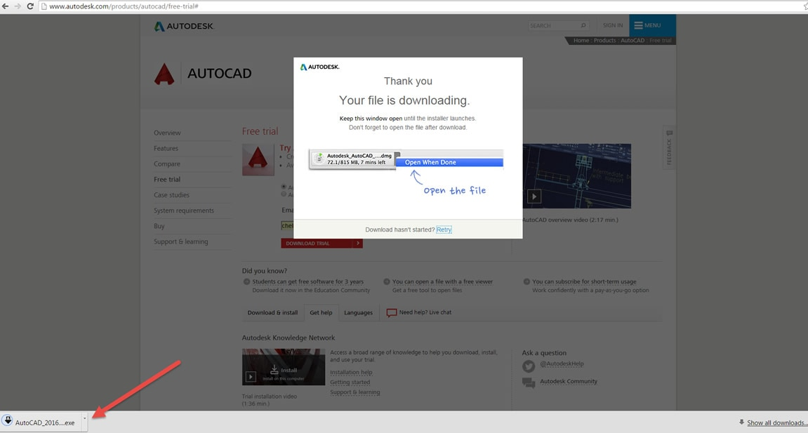 ダウンロードの途中で失敗したファイル(?)は? …